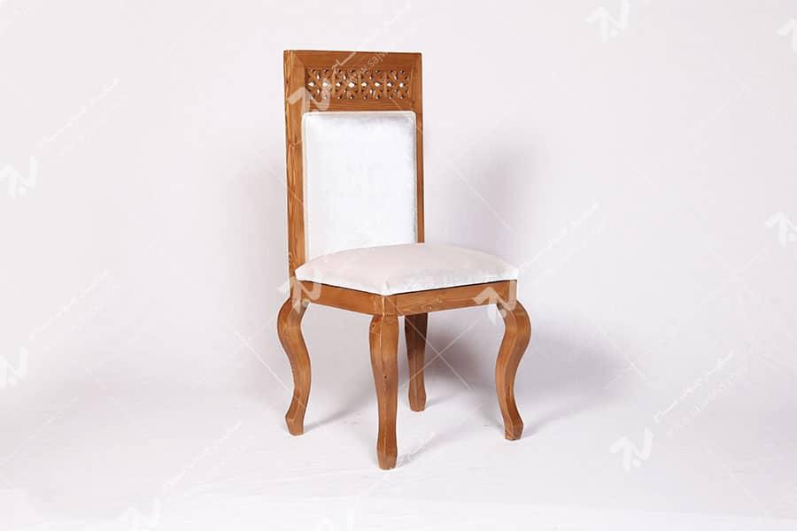 صندلی کلاسیک (غذاخوری ، مبلمان) چوبی سنتی مشبک - سمن کد ۳۰۵