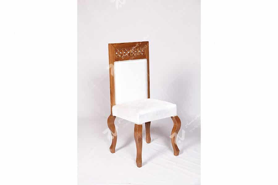 صندلی کلاسیک (ناهارخوری ، مبلمان) چوبی سنتی مشبک - سمن کد ۳۰۴