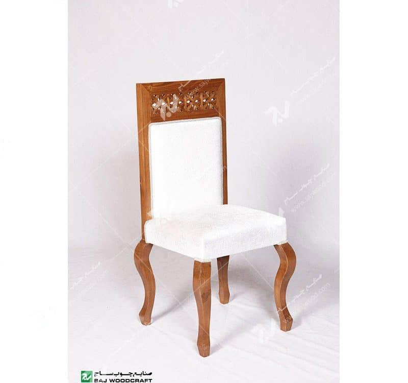 صندلی کلاسیک (ناهارخوری ، مبلمان) چوبی سنتی مشبک – سمن کد ۳۰۴