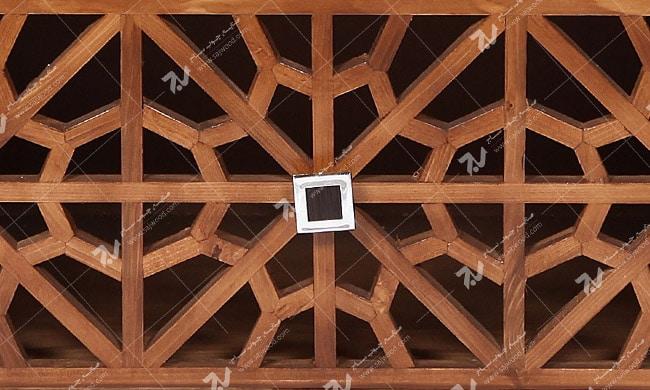 میز ال سی دی و تلویزیون  LCD / LED چوبی مشبک گره چینی _ سمن کد۳۰۷