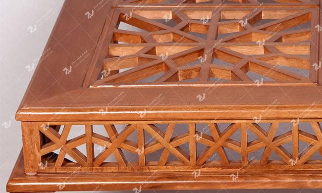 میز عسلی ، پذیرایی (کنارمبلی) چوبی سنتی مشبک گره چینی - سمن کد ۳۰۹