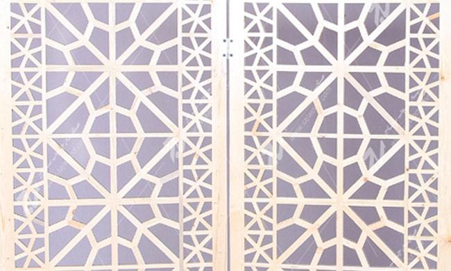 پارتیشن ( پاراوان ) چوبی سنتی مشبک گره چینی - افراز کد ۵۰۱