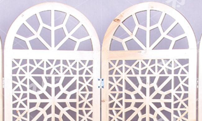 پارتیشن ( پاراوان ) چوبی سنتی مشبک گره چینی - افراز کد ۵۰۳