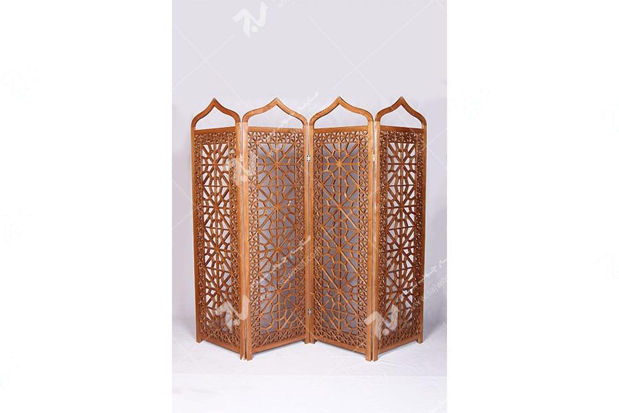پارتیشن ( پاراوان ) چوبی سنتی مشبک گره چینی- افراز کد ۵۰۲