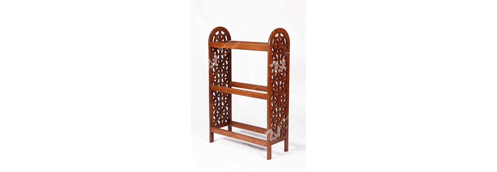 ویترین ( قفسه کتاب ، کتابخانه ) چوبی سنتی مشبک گره چینی - آذین کد ۶۰۶
