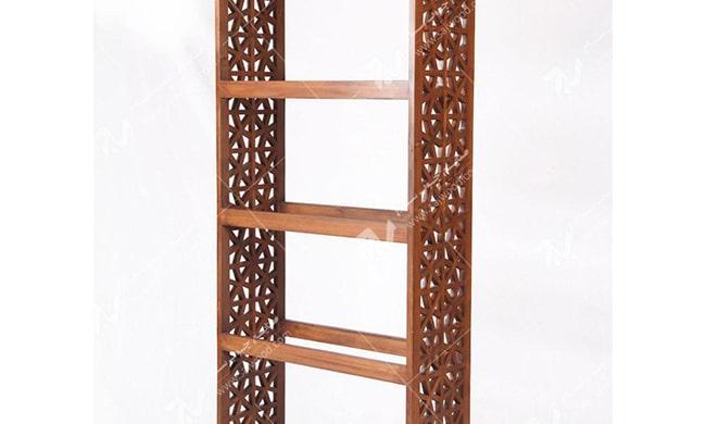 ویترین ( قفسه کتاب ، کتابخانه ) چوبی سنتی مشبک گره چینی - آذین کد ۶۰۷