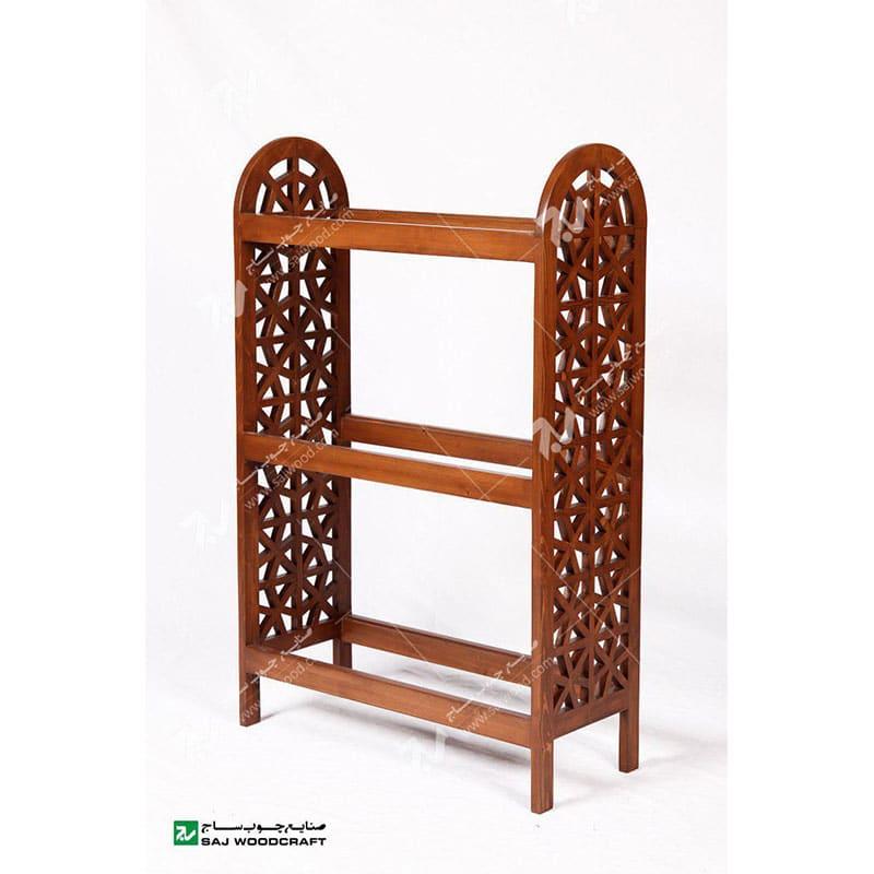 ویترین ، قفسه کتاب و کتابخانه چوبی سنتی مشبک گره چینی خرید کتابخانه