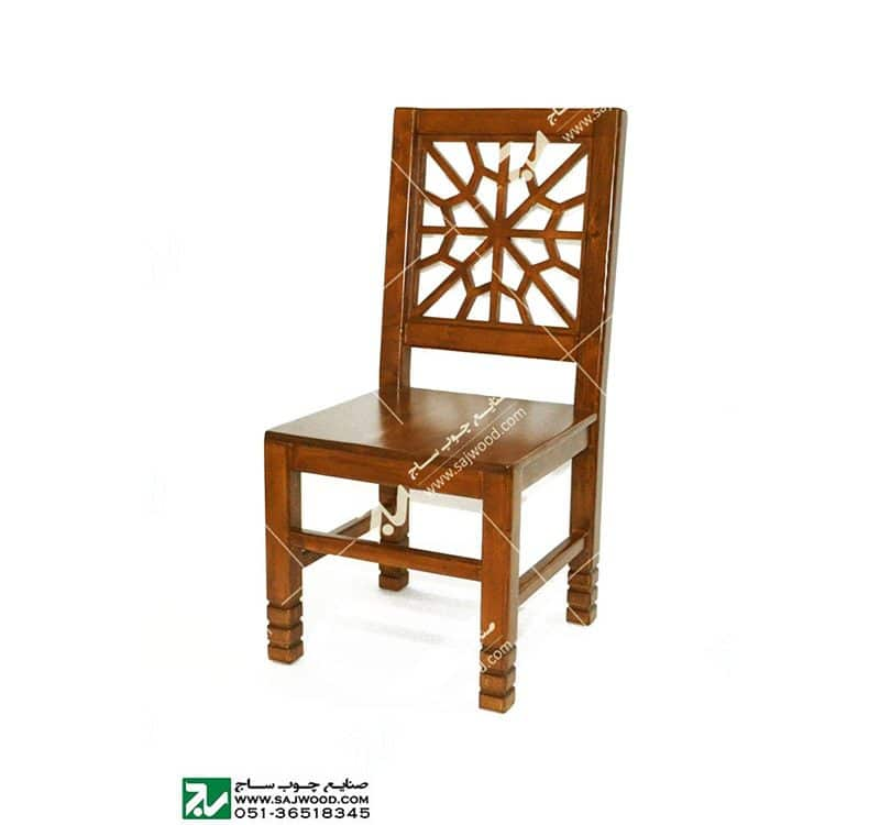 صندلی چوبی کلاسیک ( قدیمی ) سنتی مشبک گره چینی – سمن کد ۳۲۲