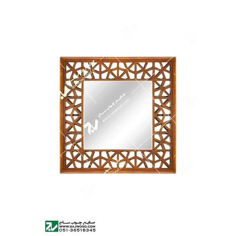 قاب آیینه دیواری دکوراتیو چوبی مشبک -آذین کد ۶۴۶