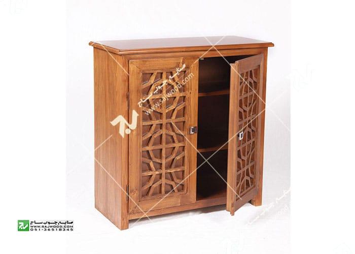 جاکفشی چوبی سنتی مشبک گره چینی - آذین کد ۶۱۰