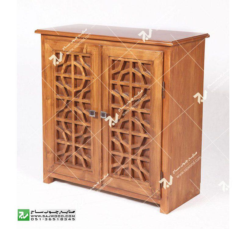 جاکفشی چوبی سنتی گره چینی مشبک