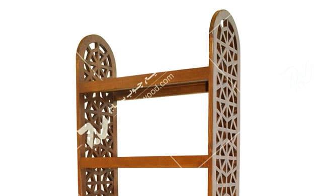 کتابخانه ، قفسه چوبی سنتی مشبک گره چینی پنج طبقه - آذین کد ۶۲۹