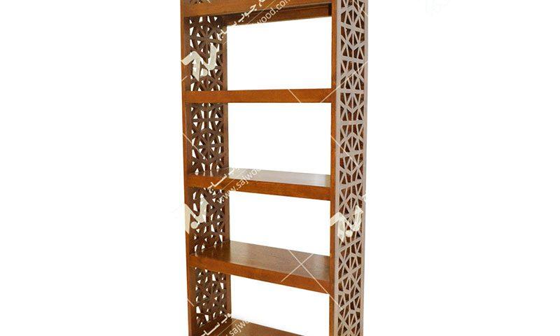 کتابخانه قفسه چوبی سنتی مشبک گره چینی پنج طبقه فروش،ساخت،قیمت کتابخانه