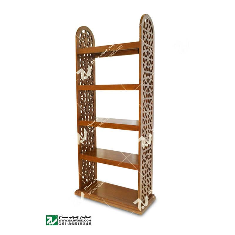 کتابخانه چوبی گره چینی مشبک – آذین کد ۶۲۹