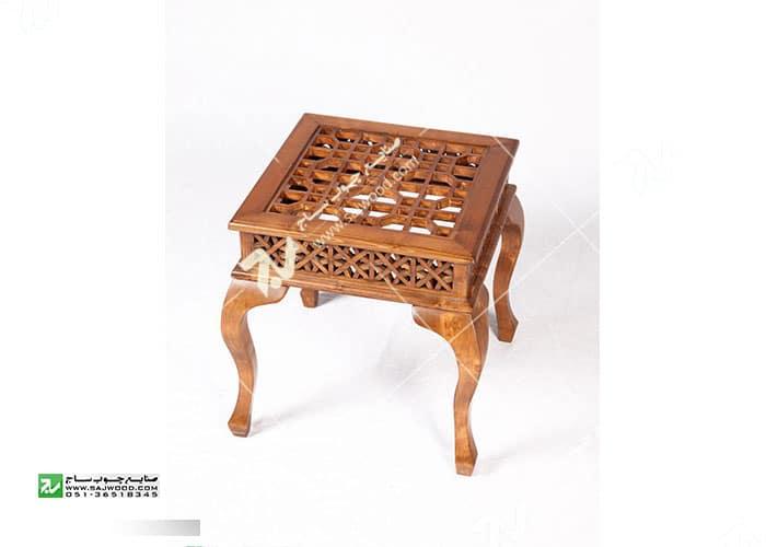 میز عسلی ، پذیرایی (کنارمبلی) چوبی سنتی مشبک گره چینی - سمن کد۳۱۴