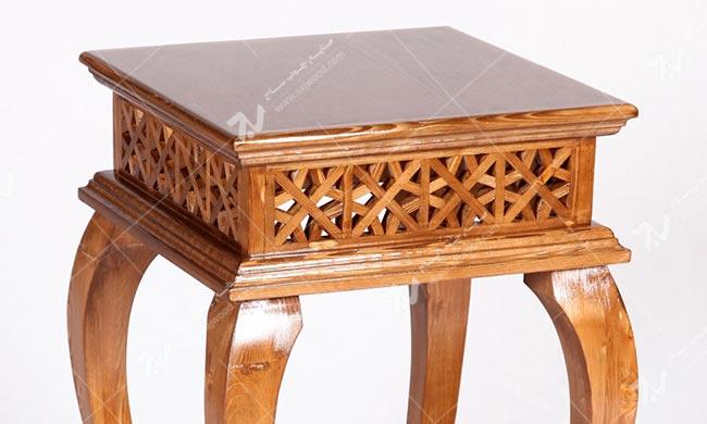 میز کلاسیک آباژور ، گرامافون ، تلفن ، خاطره چوبی سنتی مشبک - سمن کد۳۰۶