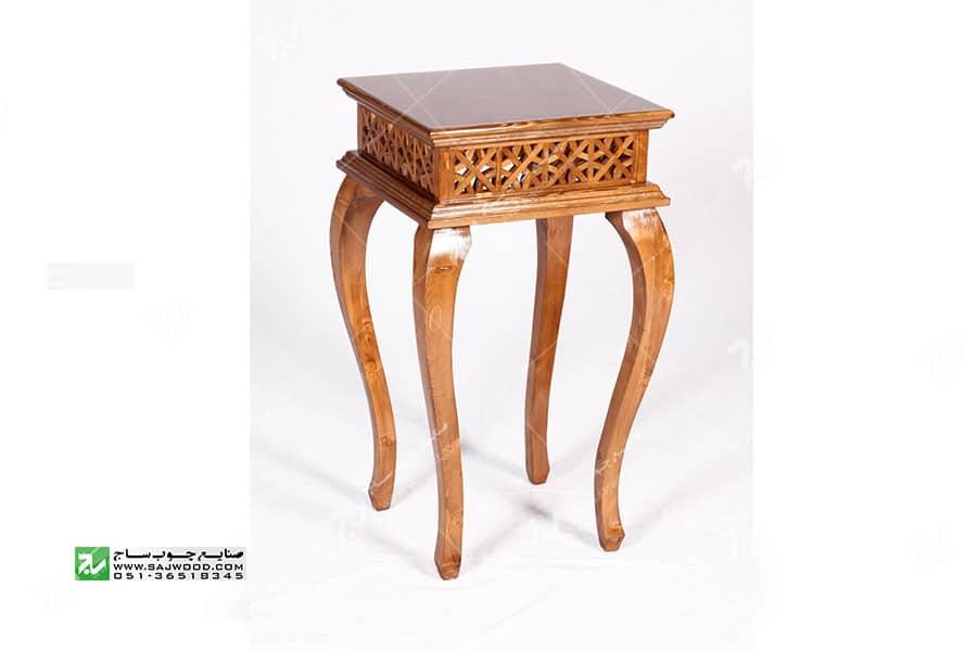 میز کلاسیک ( آباژور ، گرامافون ، تلفن ، خاطره ) چوبی سنتی مشبک - سمن کد۳۰۶