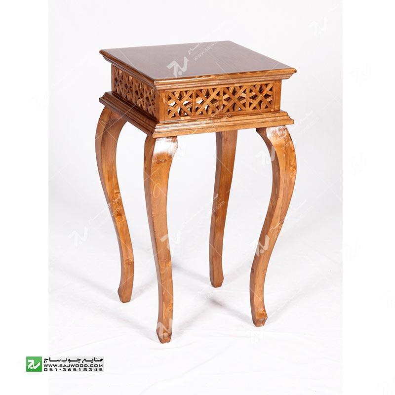 میز کلاسیک آباژور , گرامافون،تلفن چوبی سنتی مشبک،فروش انواع میز تلفن