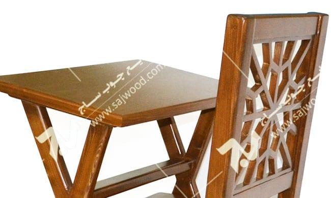 میز و صندلی ، تحریر و نماز چوبی سنتی مشبک - سمن کد ۶۴۲
