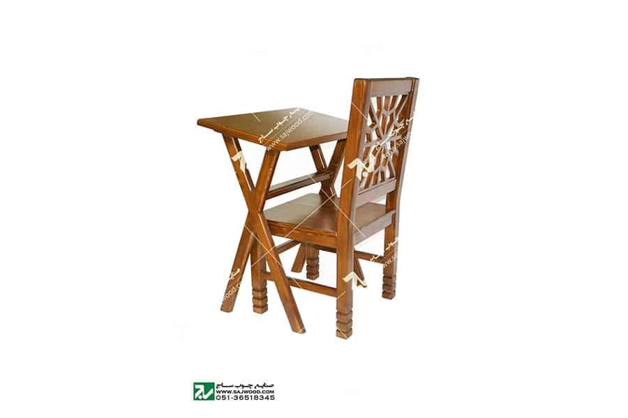 میز و صندلی ( تحریر و نماز ) چوبی سنتی مشبک - سمن کد ۶۴۲