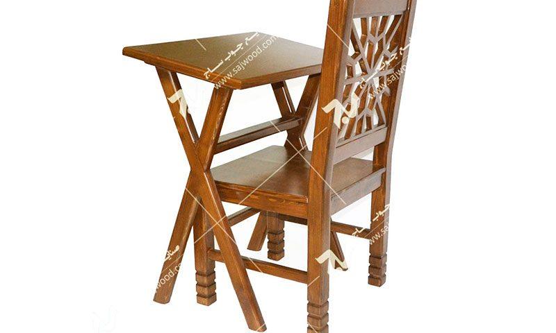 میز و صندلی چوبی سنتی سمن کد ۶۴۲