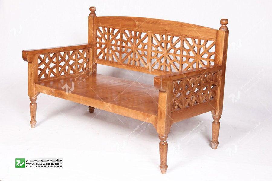 مبلمان چوبی سنتی دو نفره گره چینی مشبک – آسا کد ۲۰۲