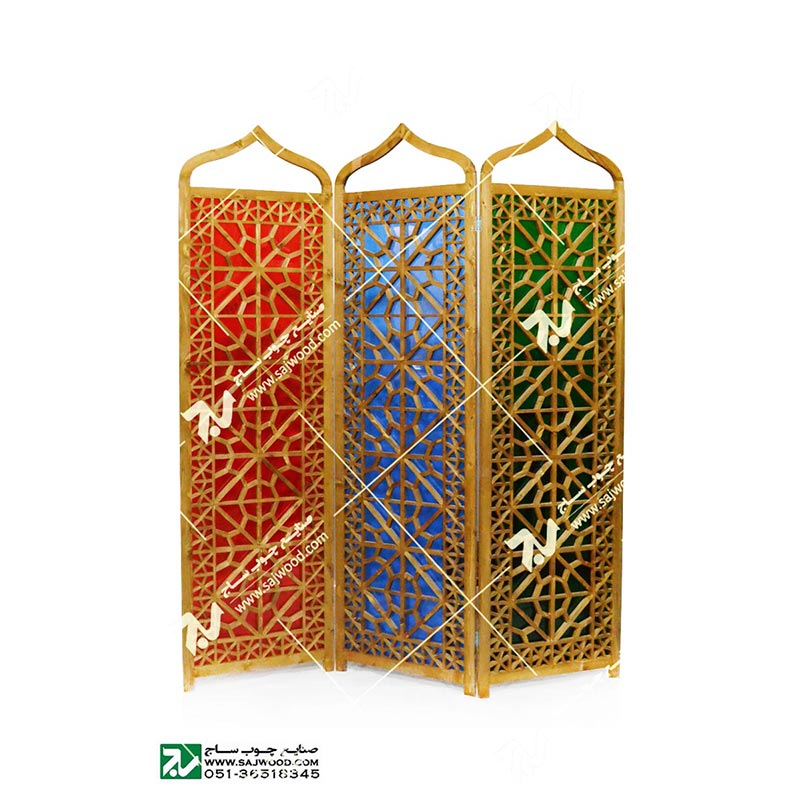 پارتیشن، پاراوان شیشه رنگی چوبی-افراز کد ۵۰۷