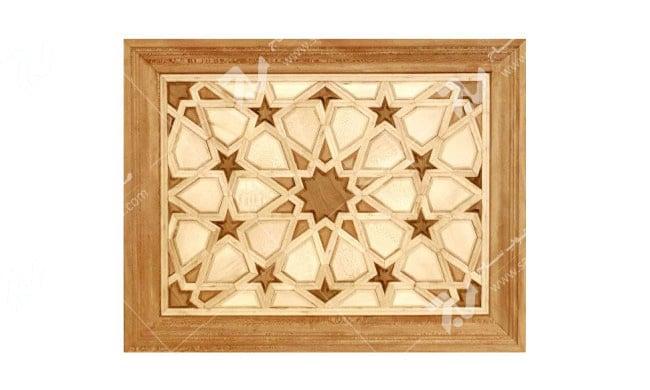 درب چوبی گره چینی طرح  تند ده کد T10