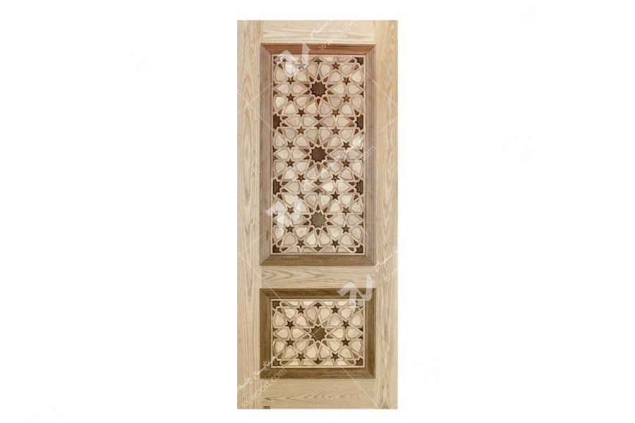 درب چوبی گره چینی- طرح تند ده T10
