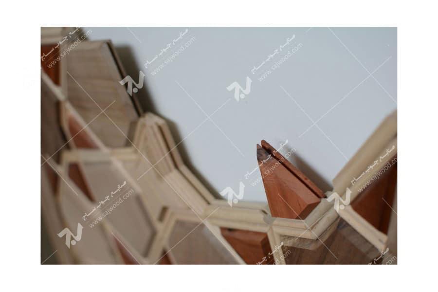 درب چوبی گره چینی طرح هشت چهار لنگه - کد L8