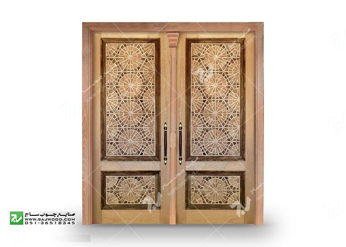 درب چوبی گره چینی طرح تند دوازده  - کد T12