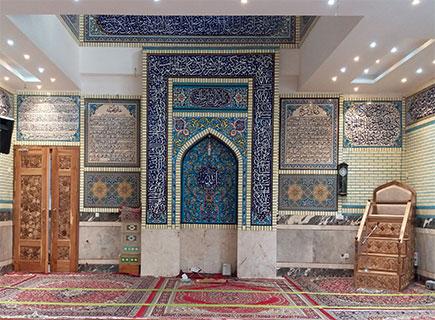 درب و منبر چهار پله مجتمع فرهنگی امام سجاد (ع) مشهد مقدس - الماس کد ۱۰۵