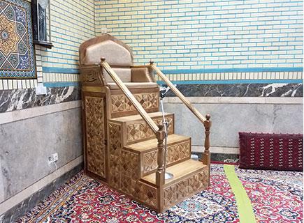 منبر چهار پله مجتمع فرهنگی امام سجاد (ع) - مشهد مقدس - الماس کد ۱۰۵