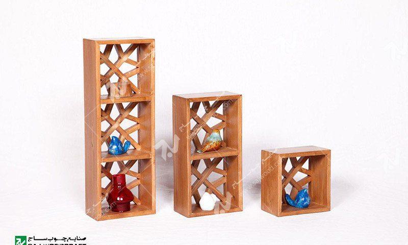 دکوری و تزیینی (شلف ) چوبی مشبک