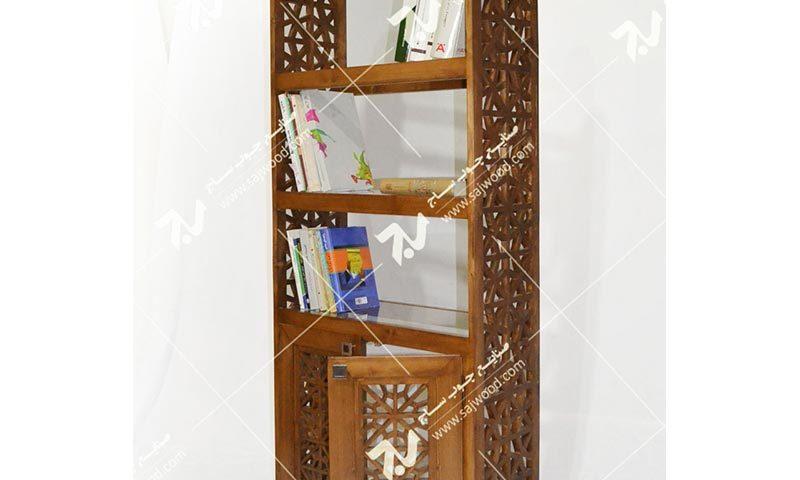 کتابخانه و گنجه چوبی سنتی گره چینی – آذین کد ۶۲۸