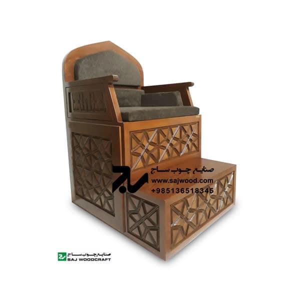 منبر چوبی مسجد گره چینی دو پله خرید،ساخت انواع منبر روضه،مداحی سنتی