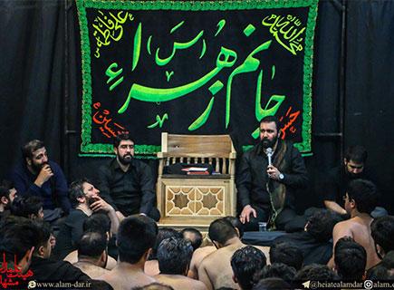 منبر سه پله سفارشی - هئیت علمدار - مشهد مقدس - کد ۱۱۱