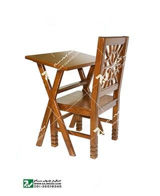 میز و صندلی چوبی سنتی سمن-کد ۶۴۲
