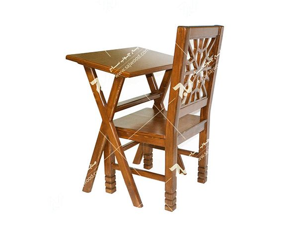 میز و صندلی تحریر و نماز چوبی سنتی مشبک فروش و قیمت میز و صندلی نماز