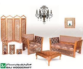 مبلمان چوبی سنتی، دکوراسیون سنتی، سرویس خواب، پارتیشن، دکوری ، صنایع چوب ساج