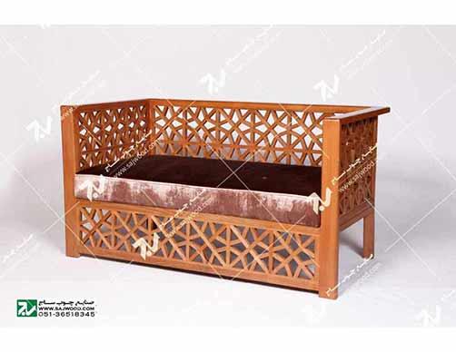 مبلمان چوبی سنتی ست هفت نفره گره چینی  مشبک – سها کد ۲۵۷