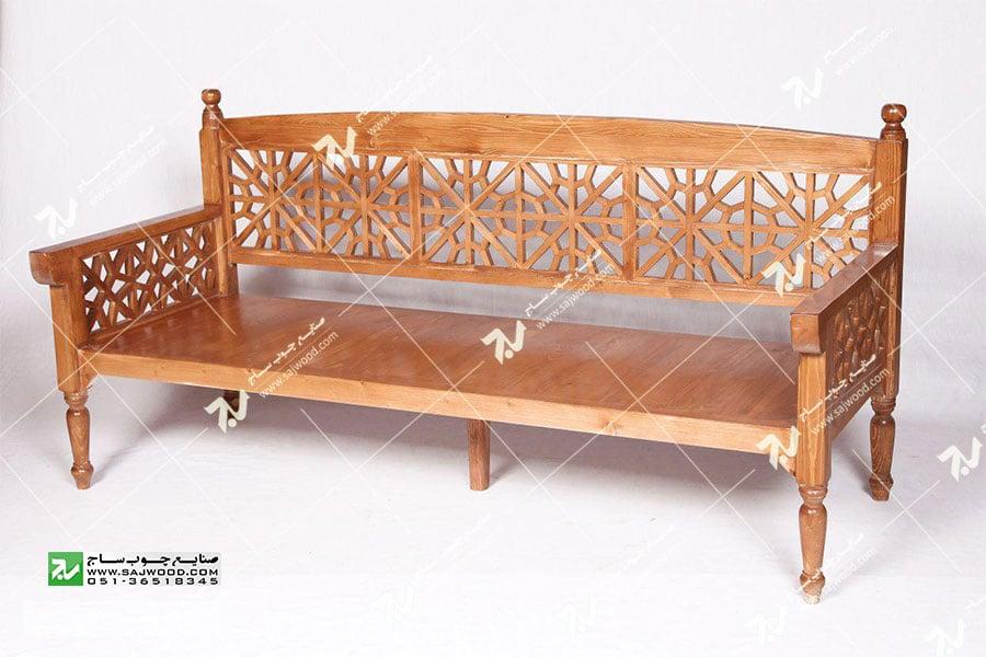 مبلمان چوبی سنتی ست هفت نفره گره چینی مشبک - آسا کد 205
