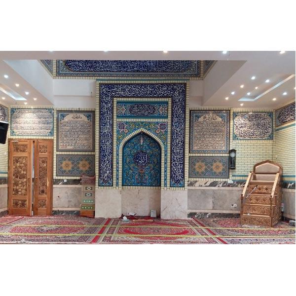 منبر چوبی مسجد گره چینی ۴ پله – الماس کد ۱۰۵