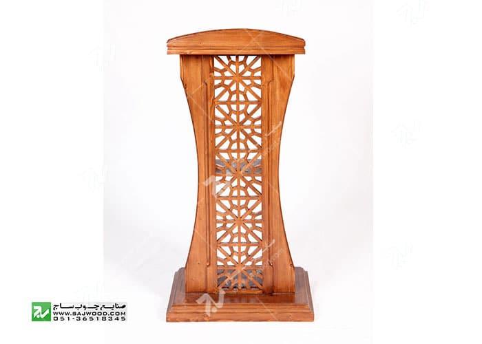 میز تریبون سخنرانی چوبی مشبک گره چینی - سمن کد ۳۱۵