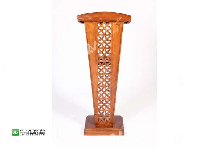 تریبون میز سخنرانی چوبی مشبک گره چینی – سمن کد ۳۱۶