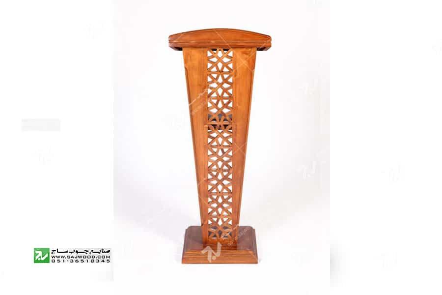 تریبون ( میز سخنرانی ) چوبی مشبک گره چینی – سمن کد ۳۱۶
