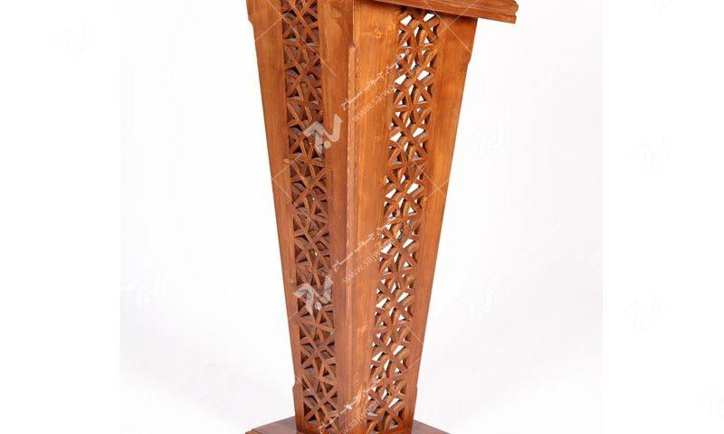 میز تریبون سخنرانی چوبی مشبک گره چینی فروش انواع میز سخنرانی و تریبون