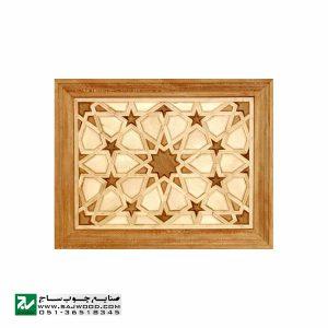 درب سنتی چوبی ورودی مسجد ،امامزاده،اماکن متبرکه صنایع چوب ساج مدل T10