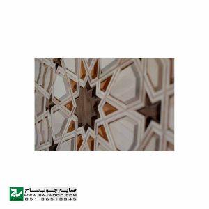 درب ورودی ساختمان و آپارتمان چوبی سنتی صنایع چوب ساج مدل T10