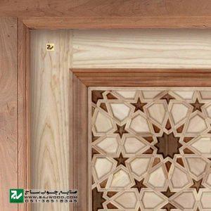 درب چوبی سنتی ورودی مسجد ،اماکن متبرکه،نمازخانه صنایع چوب ساج مدل T10